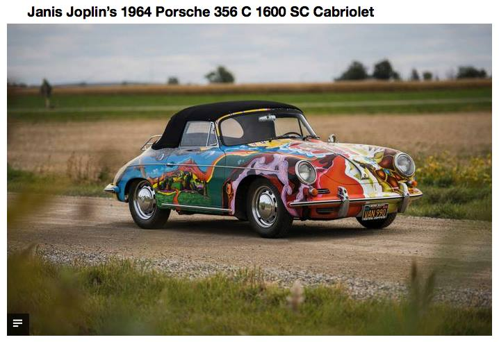 Janis Joplins repainted Porsche