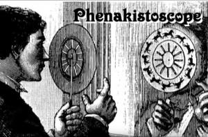 Phenakistoscope images in the mirror